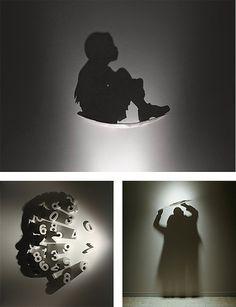 light  shadow art by Kumi Yamashita