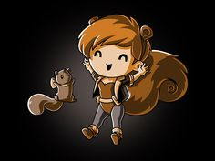 She's a human and also a squirrel! Get the Squirrel Girl! t-shirt only at TeeTurtle! Nerdy Shirts, Cute Tshirts, Unbeatable Squirrel Girl, Kawaii, Gamer Gifts, Forest Friends, Marvel Comics, Marvel Fan, Cute Animals