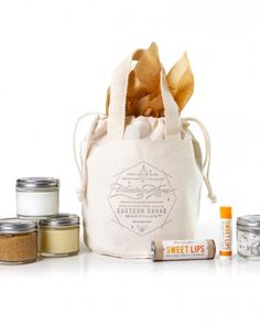 Nice Mother's Day idea: Put together an all-in-one spa bag for travel.