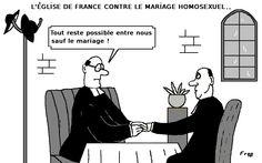 L' Eglise  de  France  contre  le  mariage  homosexuel . .