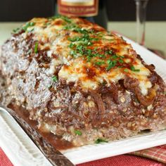 French Onion Soup au Gratin Stuffed Meatloaf - the ultimate comfort food mashup!