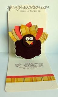 Julie's Stamping Spot -- Stampin' Up! Project Ideas Posted Daily: Gift Bow Turkey Pop Up Card