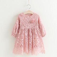 Pink Lace 2017 Summer Kids Dress