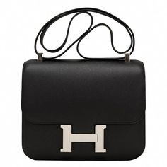 d9c771b8c7b644 View this item and discover similar structured shoulder bags for sale at -  Hermes black Constance of epsom leather with palladium hardware.