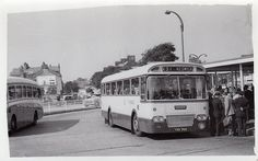New 1964 Ribble Motor Services At Morecambe Ribble bus station on express service Liverpool to Keswick. Morecambe, Bus Coach, London Transport, Bus Station, Busses, Coaches, Far Away, Lancaster, Burlesque