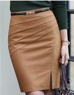 Patrón de Falda modelo clásico con corte diagonal Más