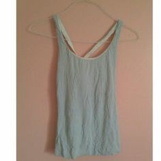 I just discovered this while shopping on Poshmark: Super Cute Baby Blue Tank. Check it out!  Size: S