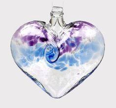 Kitras Art Glass ~ VAN GLOW HEART ~ Hand Blown