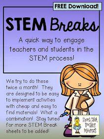 Growing a STEM Classroom: STEM Breaks Download ~ All STEM Breaks in One Place!