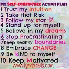 Self-confidence Action Plan
