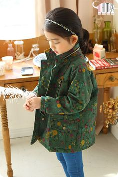 Floral Army Jacket for girls 2-6. Cool kids fashion, play ready style at Color Me WHIMSY.