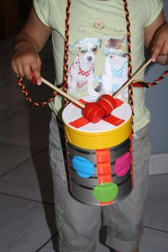 bricolage tambour , tambour enfant ,bricolage récup