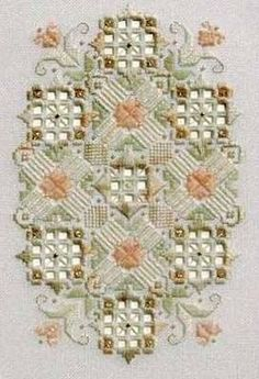 Beautiful Hardanger piece, love the mix of colours