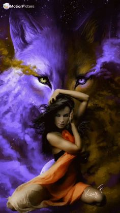 So cool, also saved by Celtic Dragon. Fantasy Wolf, Fantasy Art Women, Beautiful Fantasy Art, Wolf Images, Wolf Pictures, Wolf Goddess, Native American Spirituality, Native American Wolf, Wolves And Women
