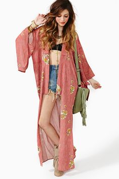 Leisure Class Silk Kimono Jacket- if the weather and my wardrobe permitted I would wear kaftans and kimonos every.single.day
