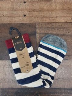 7ec26d3e5251 New Stance Reserve Classic Light Merica Stripe Socks Men s Sz L (9-12)