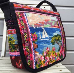 A new colorful bag!     In our Etsy shop.     And two smaller Dutch bags on the way.     With escutcheon of Dutch provinces.   It's fres...