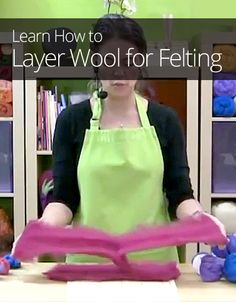 How to Layer Wool for Felting