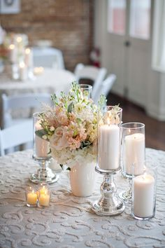 Pink and White reception wedding flowers,  wedding decor, wedding flower centerpiece, wedding flower arrangement, add pic source on comment and we will update it. www.myfloweraffair.com can create this beautiful wedding flower look.