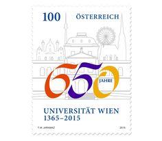 COLLECTORZPEDIA: Austria Stamps University of Vienna - 650th Anniversary