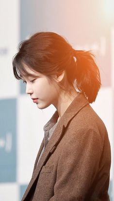 "IU 180411 ""My Mister"" Press Conference Korean Beauty, Asian Beauty, Iu Hair, Oppa Gangnam Style, Asian Hair, K Idol, Korean Celebrities, Korean Actresses, Ulzzang Girl"