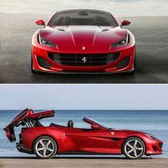 "Is The ""Entry-Level"" Ferrari. With 591 Horsepower 2018 Portofino Cool Sports Cars, Sport Cars, Maserati, Bugatti, Motos Trial, Ferrari California T, Top Luxury Cars, Jaguar Xk, Best Classic Cars"
