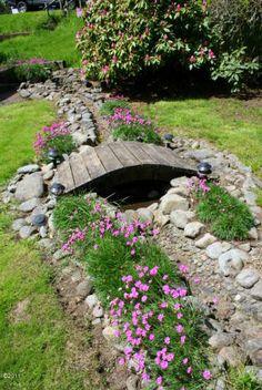 Garden Yard Ideas, Garden Paths, Lawn And Garden, Garden Projects, Garden Bridge, Garden Bar, Rain Garden, Landscaping With Rocks, Front Yard Landscaping