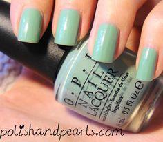 OPI Mermaids Tears #green #nail #polish #mint