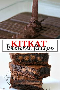 Kit Kat Brownie Recipe -