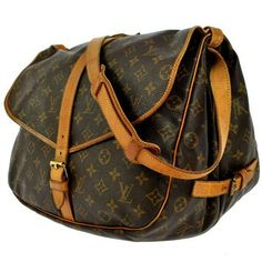 Louis Vuitton Saumer 35 Brown Messenger Bag $598