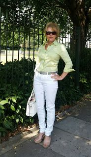 WHITE JEANS ROUGH WEATHER!