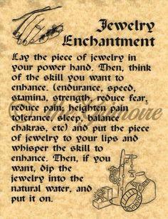 Jewelry enchantment