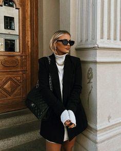 Winter Fashion Outfits, Winter Outfits, Autumn Fashion, Fashion 2020, Look Fashion, High Fashion Style, Black Aesthetic Fashion, Fashion Women, High Street Fashion