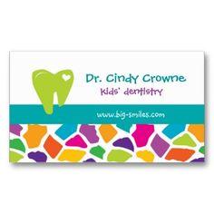 Dental Business Card Cute Giraffe Kids Blue