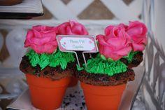Adorable Flowerpot Cupcakes