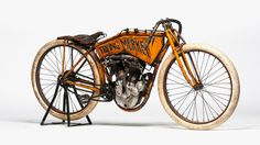 """Before the """"Merkel"""" name was associated with Europe's most powerful woman, it was a Milwaukee-based motorcycle maker with visible influence on its neighbor, Harley-Davidson. This 1911 Flying Merkel was made for racing and is in remarkable condition. Estimated price: $350,000 to $400,000"""