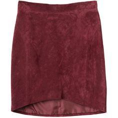Monki Caroline skirt (2.425 RUB) ❤ liked on Polyvore featuring skirts, mini skirts, bottoms, faldas, gonne, cult wine, monki, red mini skirt, red leather skirt and red skirt
