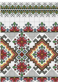 Cross Stitch Rose, Cross Stitch Borders, Cross Stitch Flowers, Cross Stitch Charts, Cross Stitch Designs, Cross Stitch Patterns, Towel Embroidery, Basic Embroidery Stitches, Cross Stitch Embroidery