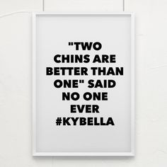 """Kybella: """"Two chins are better than one"""" said no one ever! Kybella: """"Two chins are better than one"""" said no one ever! Botox Fillers, Dermal Fillers, Botox Quotes, Double Chin Treatment, Plastic Surgery Quotes, Surgery Humor, Spa Quotes, Thin Hair Cuts, Cool Sculpting"""