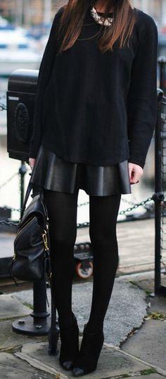 Black on Black | Street Style.