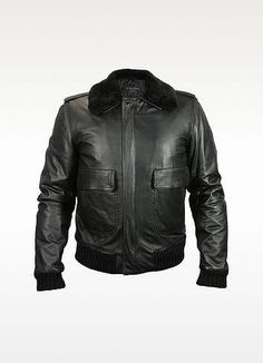 e5e966c7e776 Black Leather Jacket by Forzieri. Buy for  950 from Forzieri   leatherjacketsformenred Leather Jacket With