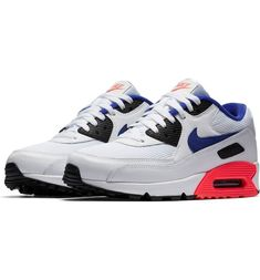 separation shoes ce785 b87b4 Nike Air Max 90 Ultramarine New Blue Black White Red Trainer,Nike exclusive  sponsorship of romantic Valentine s Day.