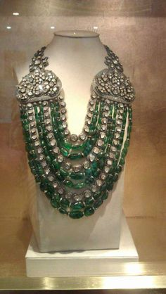 Emerald & Diamond Necklace Double WOW!!!