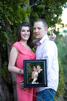 I LOVE this idea - every wedding anniversary, take a picture of you holding a picture from the previous wedding anniversary and so on! ♥ Butterfield Photography