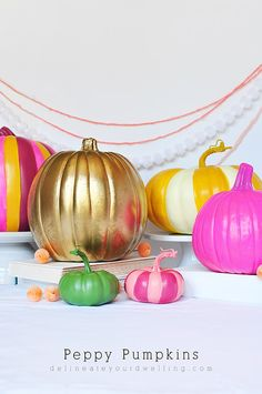 DIY Peppy Pumpkins - Delineate Your Dwelling