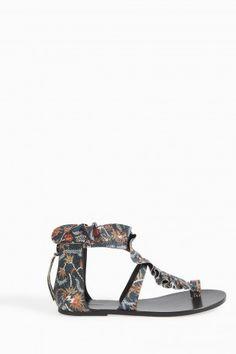 Audry Ruffled Leather Flat Sandal, Multi. Flat SandalsShoe GameIsabel  MarantRuffles