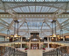 Chpt 21: Chicago: The Rookery Building 1885-1888; Chicago Illinois; Daniel Burnham and John Root with Frank Lloyd Wright as lobby renovator in 1905