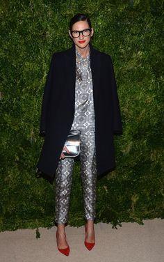Jenna Lyons in prints on prints J.Crew at CFDA/Vogue Fashion Fund Awards
