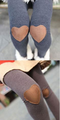 82cb2bf1d5d Fashion New Knee Love Patch Leggings  leggings  sexy Lace Leggings