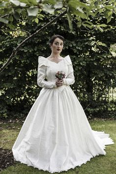 1980s 'Ronald Joyce' embellished vintage wedding gown